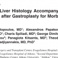 Changes in liver histology